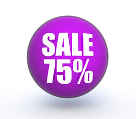 sale sphere icon on white background
