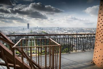 vista di Parigi dalla Tour Eiffel