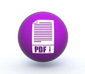 pdf sphere icon on white background