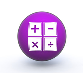 calculator sphere icon on white background