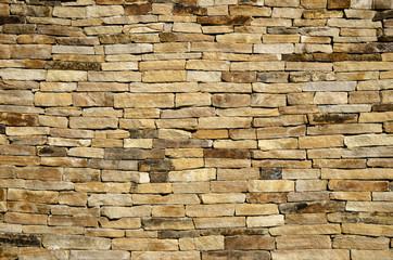 Background wall of slate limestone slabs brown shade