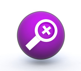 search sphere icon on white background