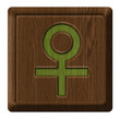Female sign sex, wooden label