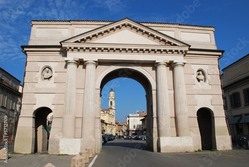 Ombriano gate, ancient entrance to Crema town, Lombardy, Italy