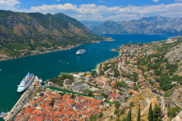Old town of Kotor and Boka Kotorska bay