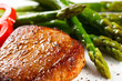 Grilled steaks and asparagus