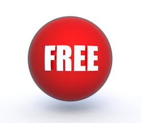 free sphere icon on white background