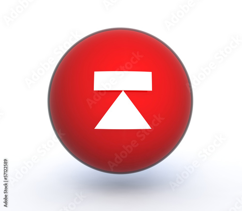 eject sphere icon on white background