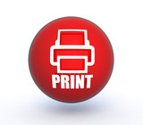 print sphere icon on white background
