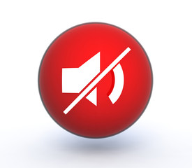 mute sphere icon on white background