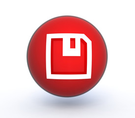 disk sphere icon on white background