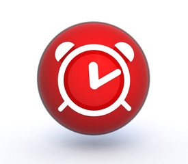 alarm sphere icon on white background