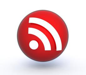 signal sphere icon on white background