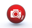 camera sphere icon on white background