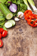 Gemüse auf Holz