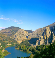 "El Chorro (""The Spurt"") located in Malaga (Andalusia) of Spain"