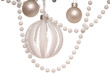 white Christmas-tree decorations