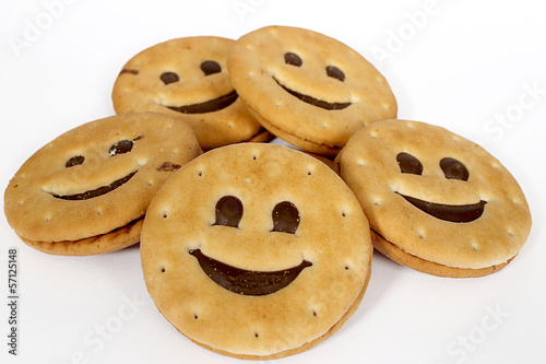 Biscuits Smile on white background