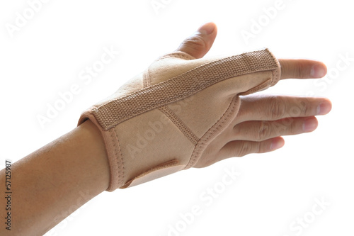 hand and single finger with orthosis isolated