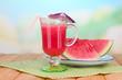 Glass of fresh watermelon juice,