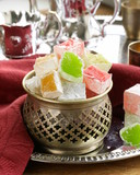 Turkish delight dessert  (rahat lokum) different colors poster