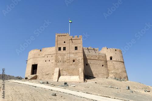 Fotobehang Dubai Arabian Fort in Fujairah Dubai