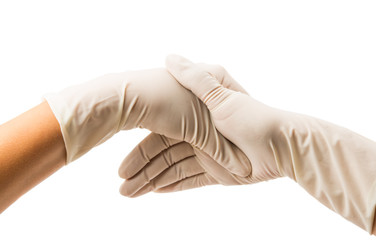 Hand with Surgical Gloves