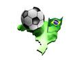 Fussball 2014 Brasilien - Flagge K