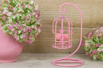 decorative pink birdcage
