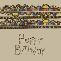 happy birthday  drawing