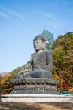 Buddha statue at Shinheungsa Temple, Seoraksan, Korea poster