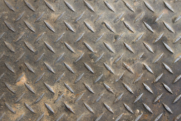 Old diamond plate background