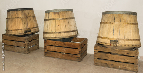 wine barrels up side down