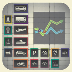 Transport symbols