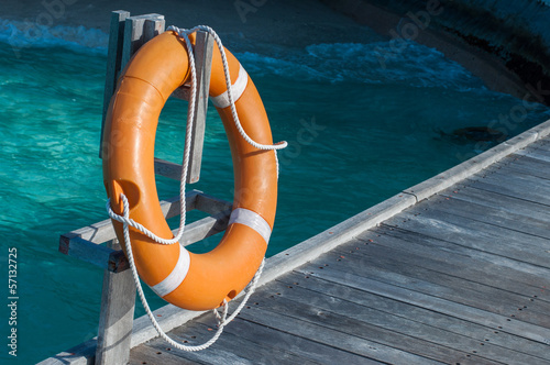 a lifebuoy, safety equipment
