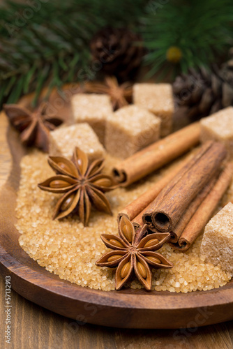 spices and brown sugar in a bowl