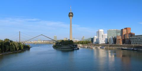 Panorama of the Media Harbor in Dusseldorf