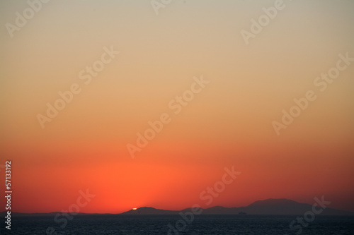 Sunset from Patmos island Greece