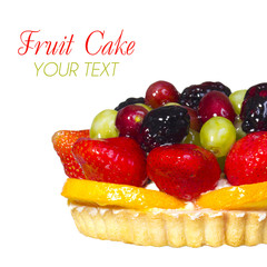 Fruit Cake isolated, with space for the text.