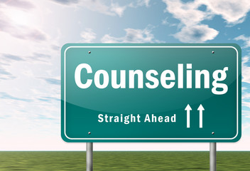 "Highway Signpost ""Counseling"""