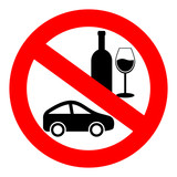 Do not drink and drive vector symbol