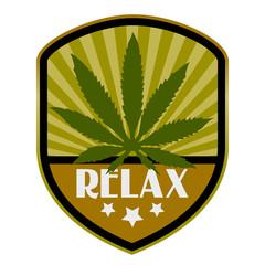 Vector retro relax emblem