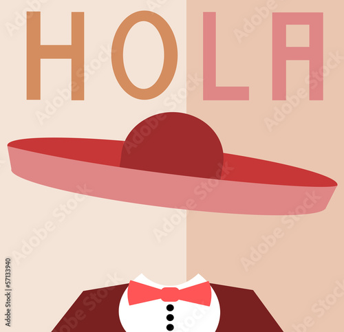 man wearing sombrero with spanish greeting