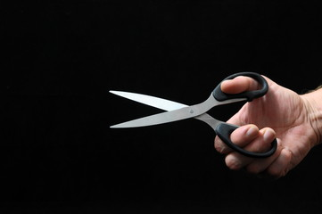 Scissors and a Hand