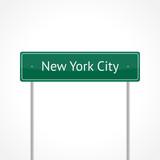 Green NYC traffic sign