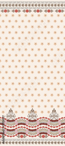beige seamless pattern with wide border