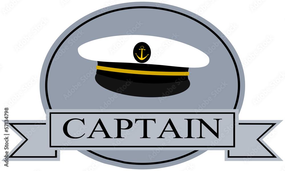 Captain Banner Template Sailor Hat Sticker