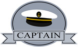 captain banner template with sailor hat