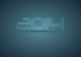 2014 glassy vector template