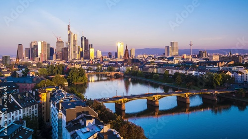 Frankfurt, Germany Cityscape at Dawn